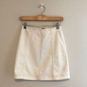 white denim skirt free people